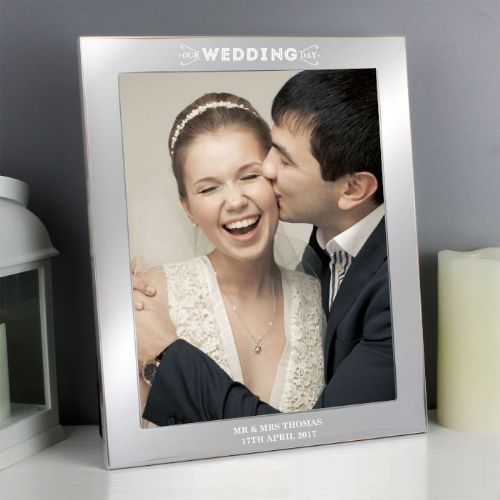 Personalised Our Wedding Day Silver 10x8 Photo Frame